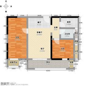 科瑞江韵户型2室1厅1卫1厨