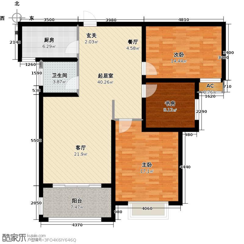 110平方四室两厅一卫平房设计图分享展示