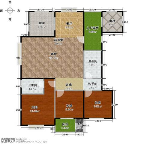 太原香颂146.18㎡12 13号楼U户型 三室两厅两卫 146.18平米户型3室2厅2卫-副本