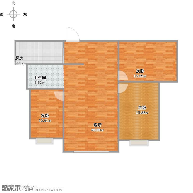 9栋603d户型室内测量