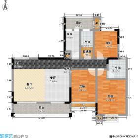洞口新世界中央公园125.80㎡7D户型3室2厅2卫
