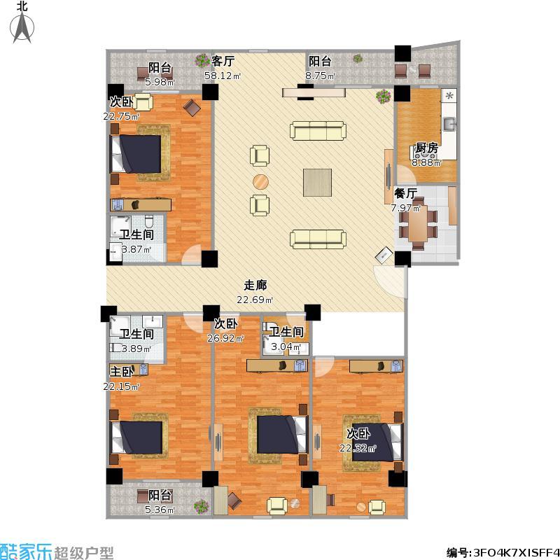 户型设计 四室一厅 福建