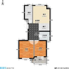 金桥澎湖山庄89.71㎡G7户型2室2厅1卫