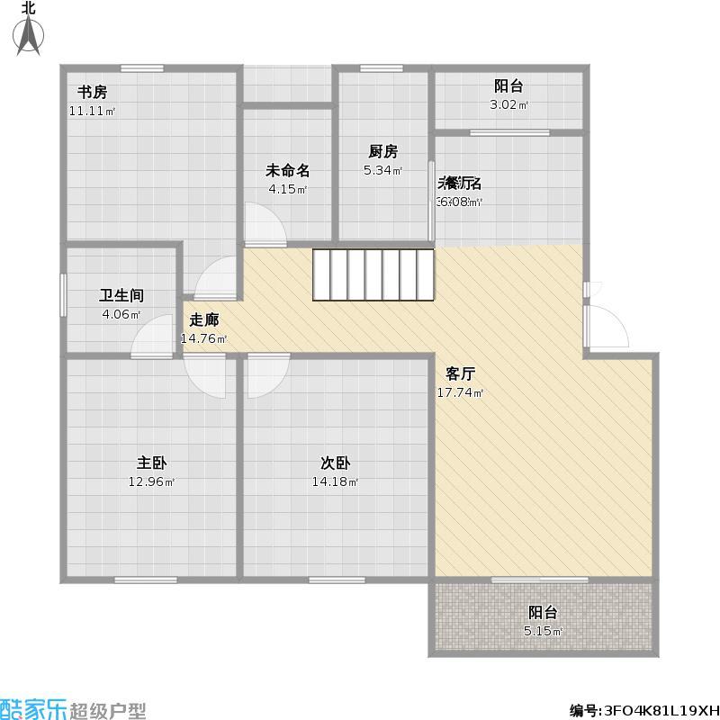 农村普通房子120平方设计图展示图片