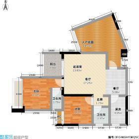 大江观邸86.15㎡7#A-03户型2室2厅1卫