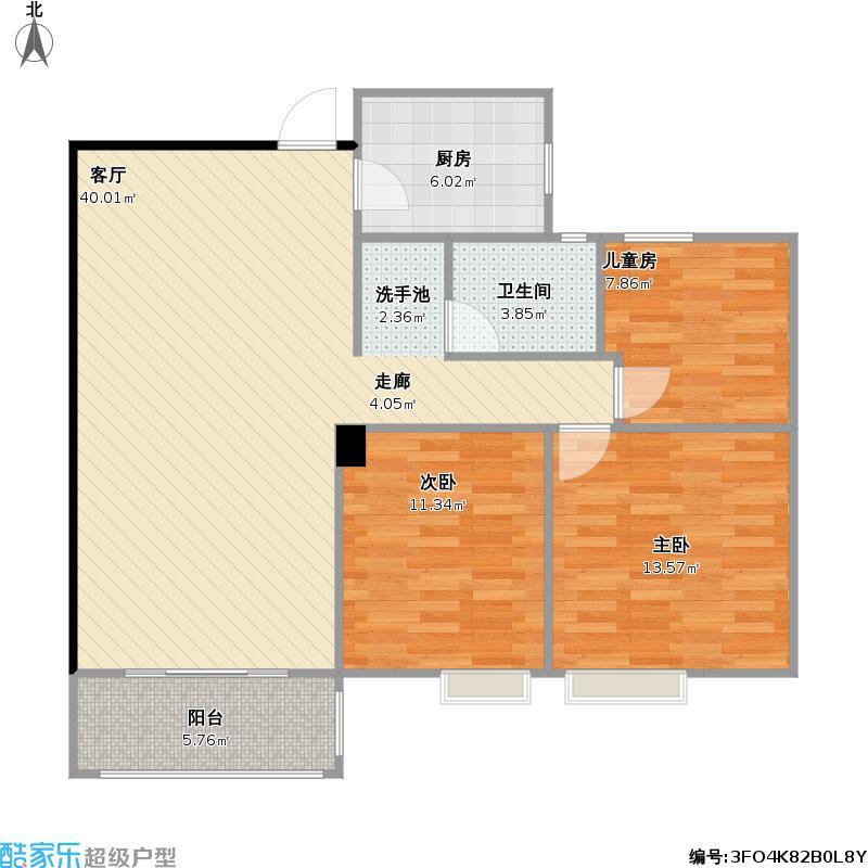 云庭苑106.46方三室二厅一卫