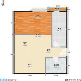 恋曲7054.20㎡一居室D户型