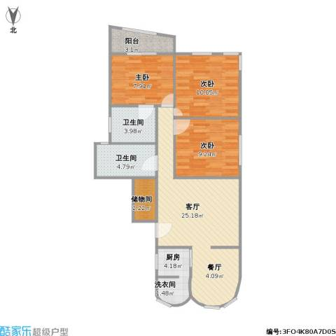 虹口现代公寓的户型图