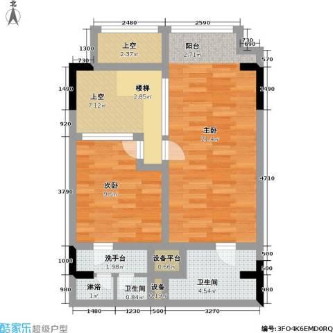 漕湖之星60.00㎡漕湖之星户型图5#地中海户型2F(2/3张)户型1室1厅