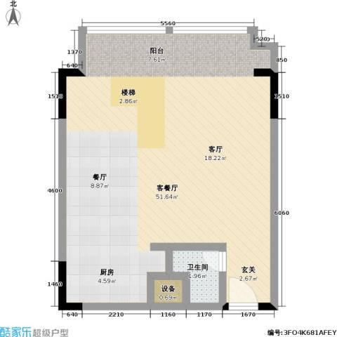 漕湖之星5#地中海1F户型1厅1卫-副本