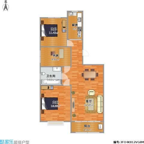 盛世华庭108方三室两厅一厨一卫