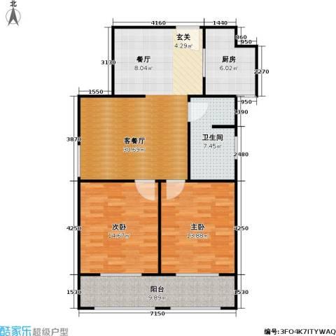 菏泽锦绣中华户型2室1厅1卫1厨-副本