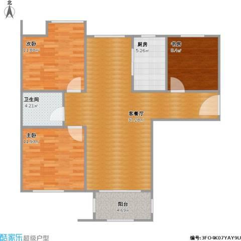5号楼107.87三室两厅一卫现代简约