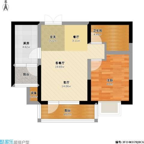 保利达江湾城户型1室1厅1卫1厨