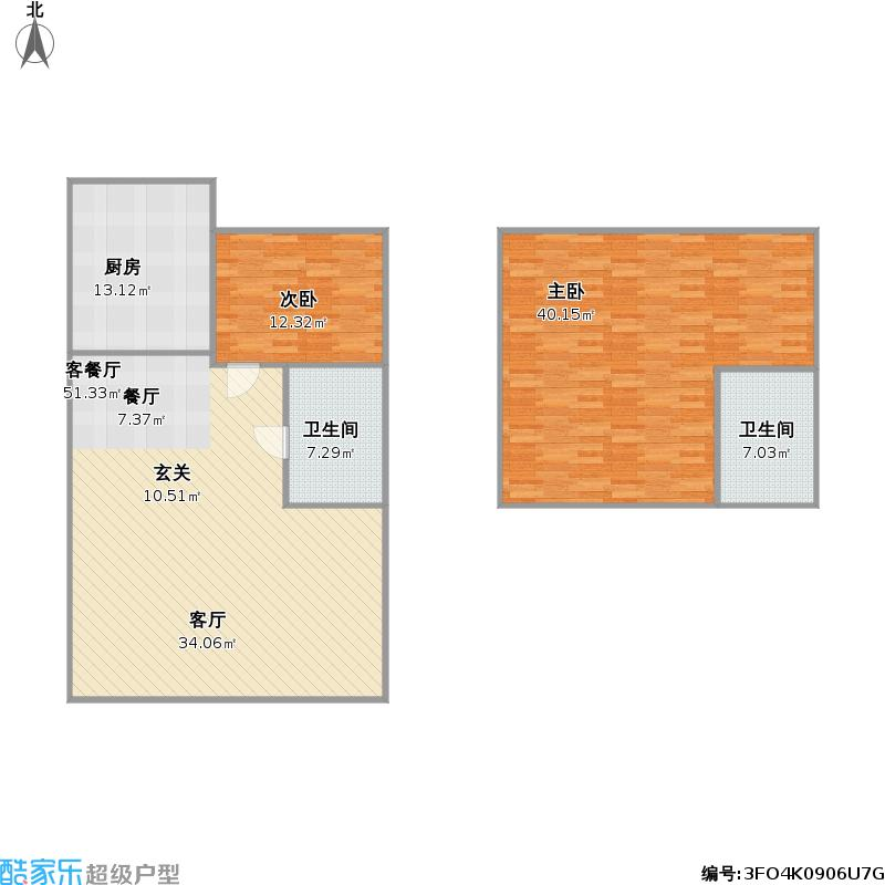 140平方复式楼户型图大全