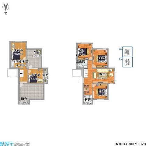 欧式花园三室两厅一卫加一室一厅一卫复式