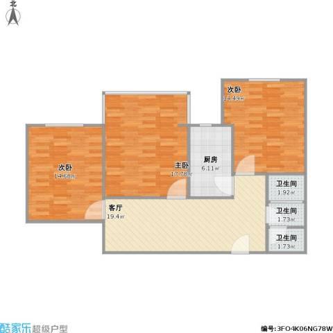 7号楼2单元两室改三室一厅一厨一卫