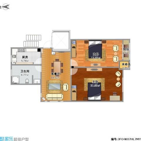 70方户型两室一厅
