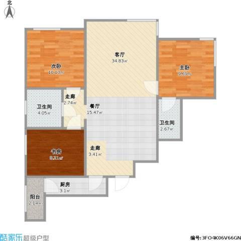 北京海航国兴城A型3室1厅