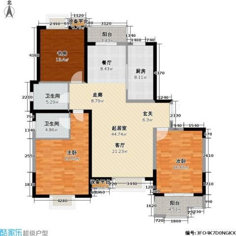 汇景公寓137平米三房户型3室2厅2卫-副本