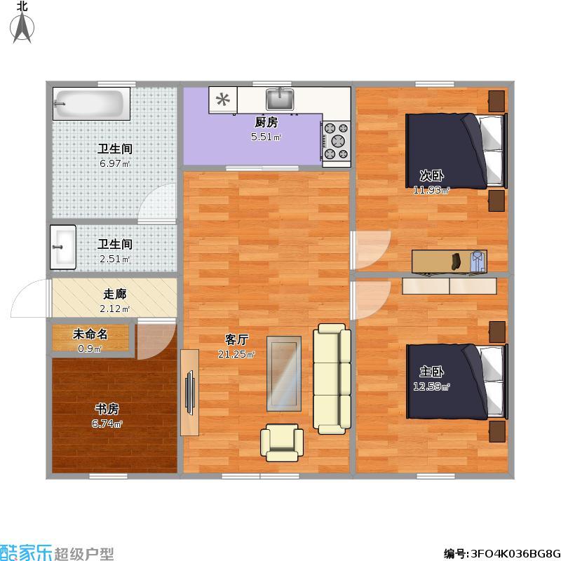 四室一厅的房屋设计图内容四室一厅的房屋设计图
