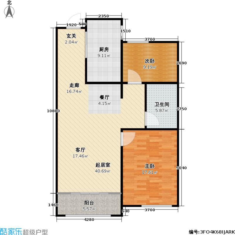 00㎡东方公园世家户型图6-b(4/16张)户型10室