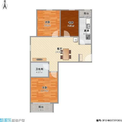 C反户型三室一厅