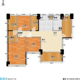 壹克拉A-04型偶数层户型3室1厅2卫1厨