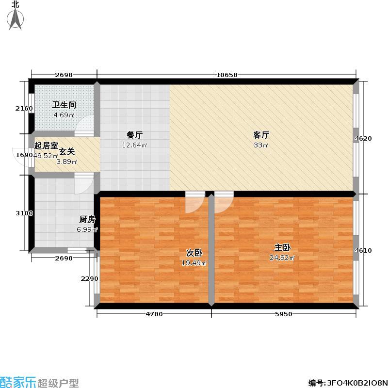 户型设计 伊莎贝拉国际公馆三型平面图户型  山东 青岛 伊莎贝拉国际