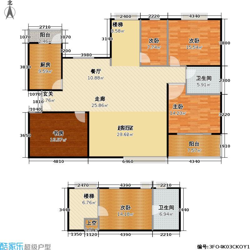 逸流公寓190.00㎡房型复式户型图片