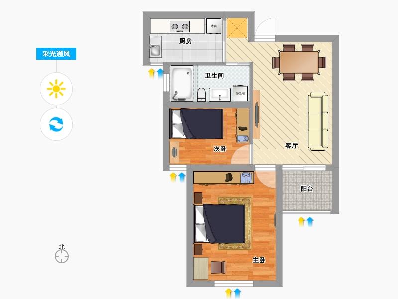 简约二室一厅户型图大全,装修户型图,户型图分析,户型