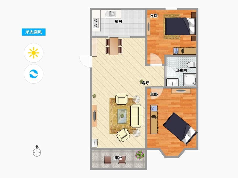 五房一厅一卫设计图展示
