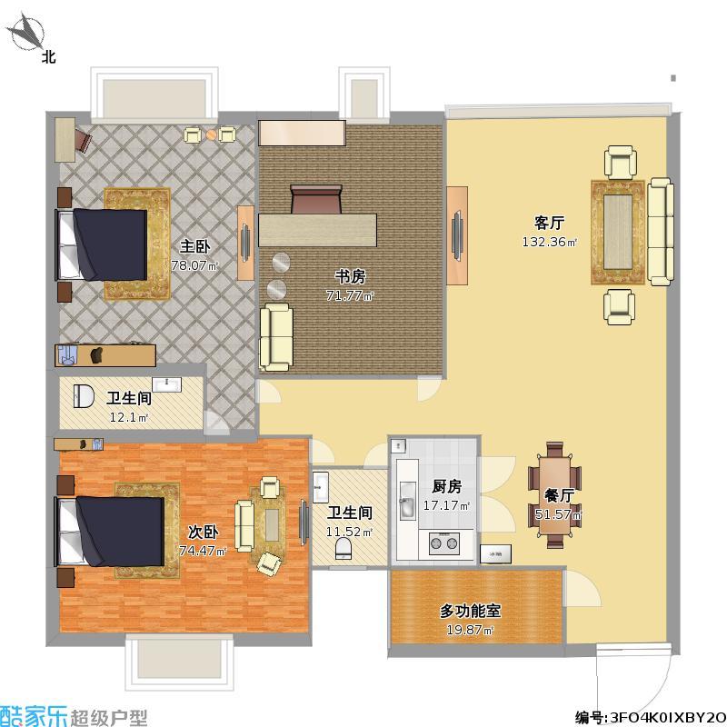 三室一厅户型图大全,装修户型图