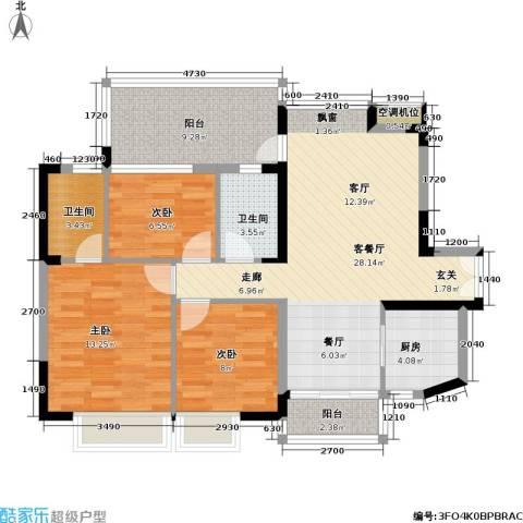 东华明珠园90.00㎡房型户型-副本
