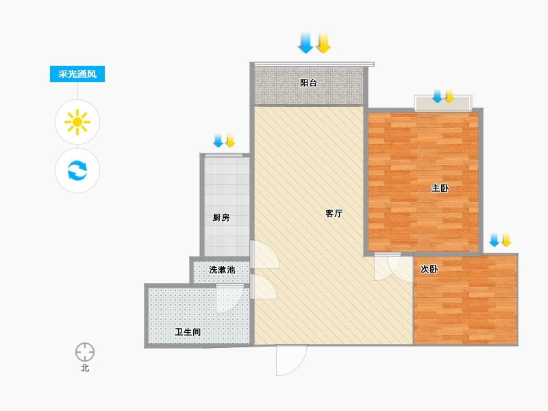 两室两厅改三室户型图大全 高清图片