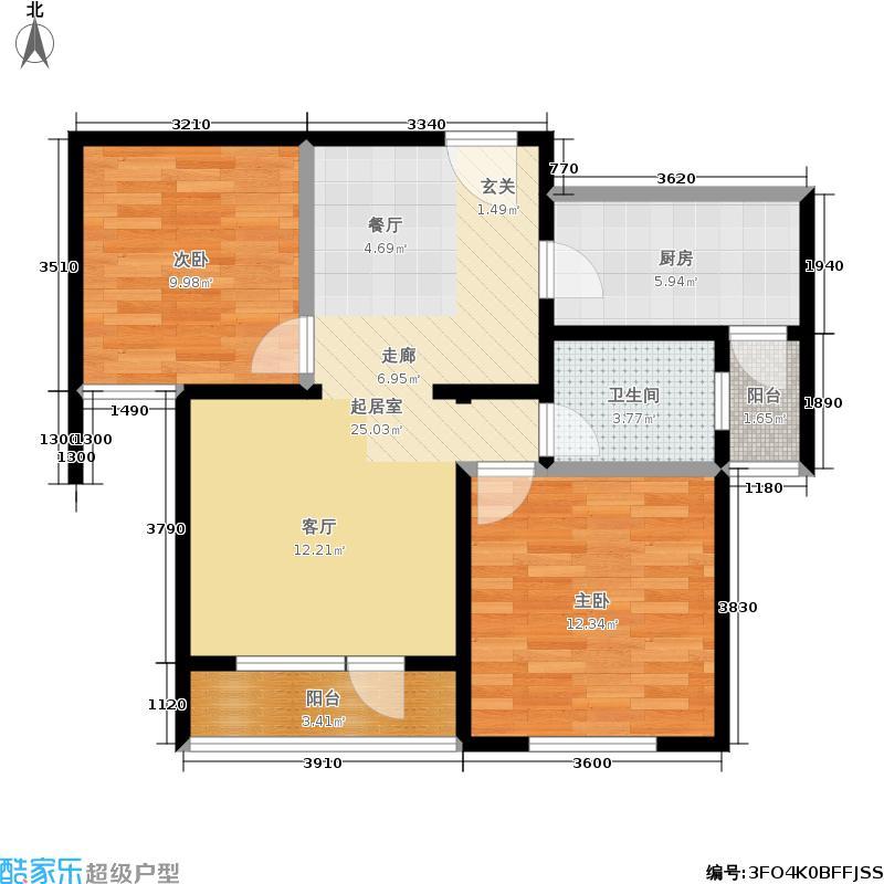 00㎡户型  山东 青岛 鲁信长春花园 建筑面积:96平方米 分享
