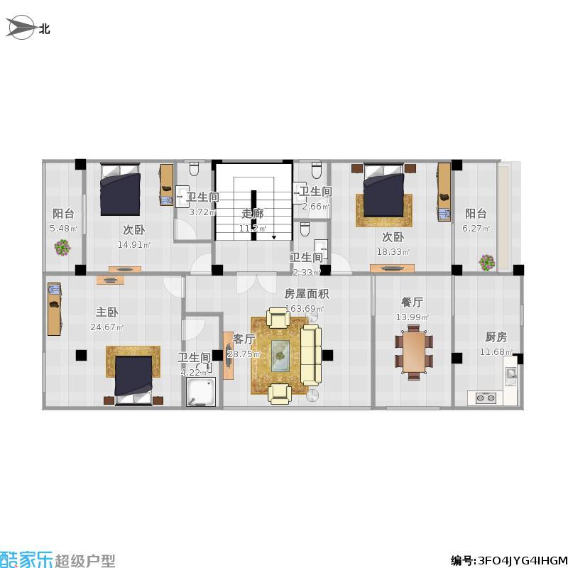 长方形房子设计图