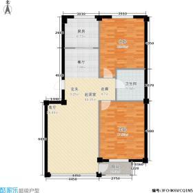 金润花园一期二房二厅一卫 面积82.37-99.29平方米户型