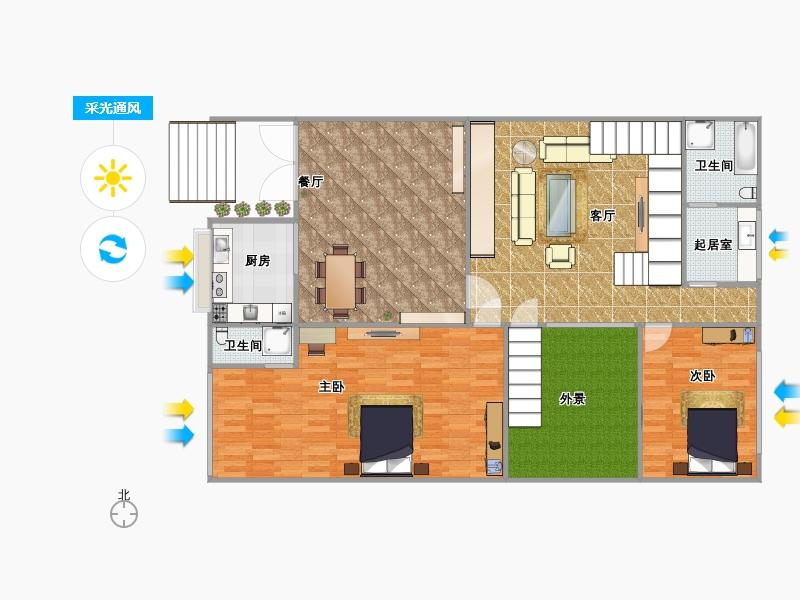 独栋三层450坪复式楼别墅第一层户型图大全