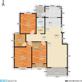 东方领域125.80㎡K户型3室2厅2卫