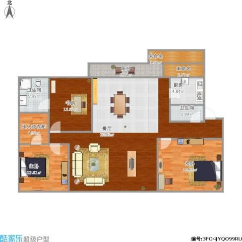 明湖花园133方D2户型三室两厅两位 - 副本