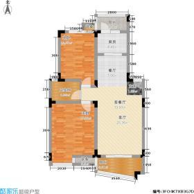 枫丹白鹭湖公馆三期95.00㎡A496M2户型