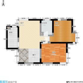 东海云天二号楼01户型面积:84.90m2户型