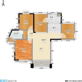 耀凯凤岭1号户型2室1厅1卫1厨