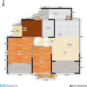 君悦城户型3室1厅1卫1厨