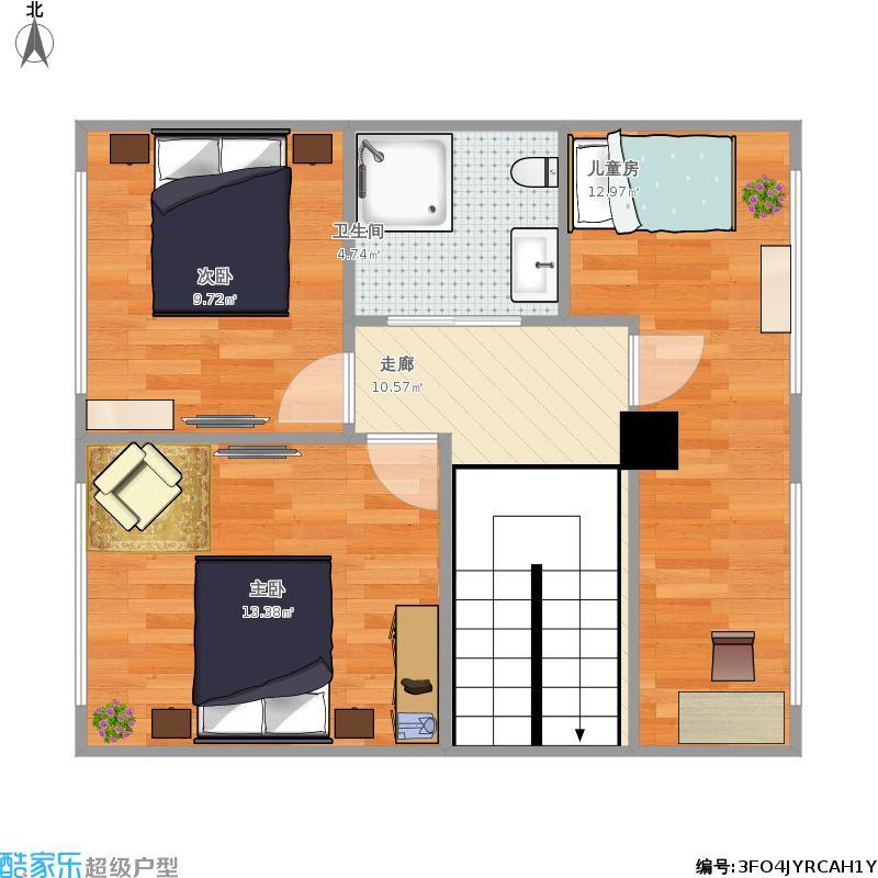 56平自建房,2层改越式.求大神设计,谢谢图片