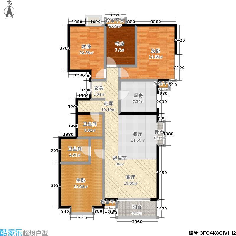 51㎡四室两厅两卫户型