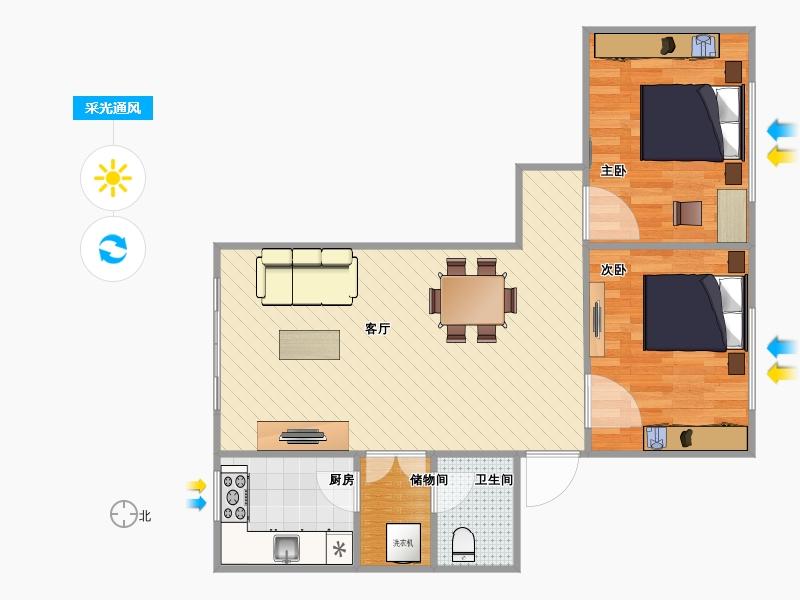 设计图分享 农村农村三间房子室内设计图  二楼设计图 三间房 宽550×图片