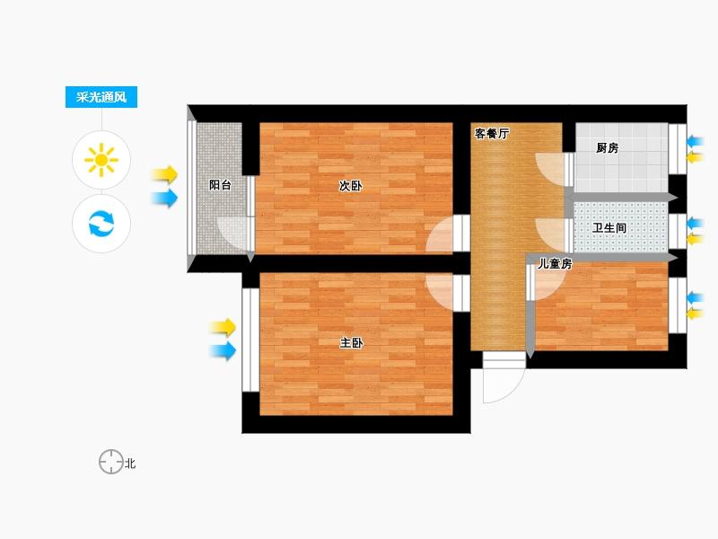 户型设计 70平三室一厅   &#58910