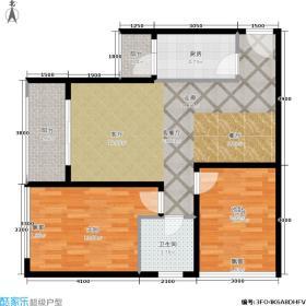 颜龙山水城两室两厅一卫户型2室2厅1卫